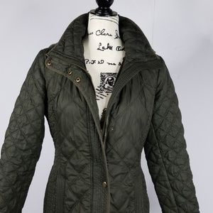 ANDREW MARC-▪ Diamond quilted puffer jacket, olive